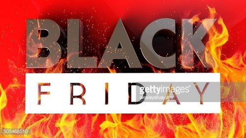 Black Friday 3D on red fire background