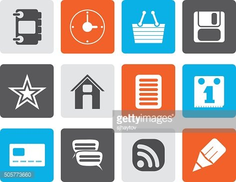 Flat Internet and Website Icons