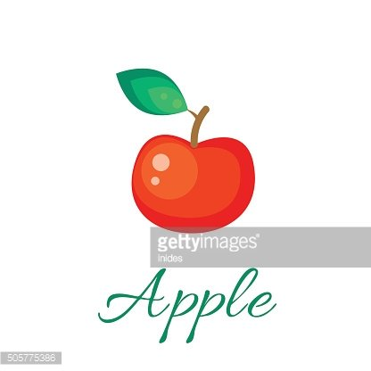 Red apple vector icon