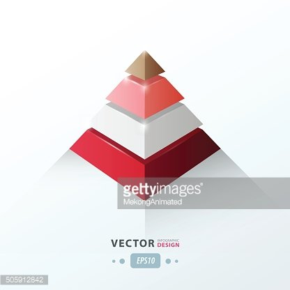 3D pyramid business Infographic love valentine style