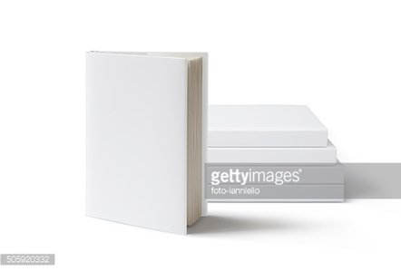 Blank Book mockup isolated on white.