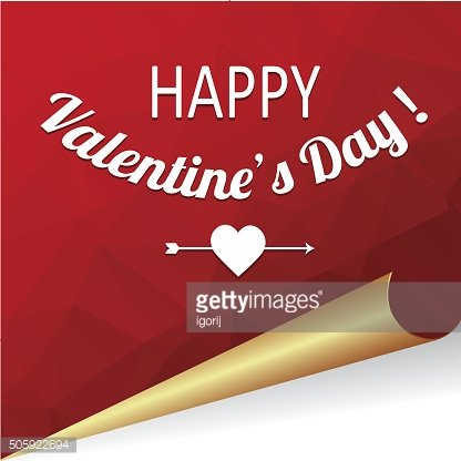 Vector background with congratulations on Valentines Day