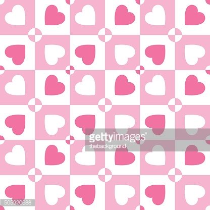 Valentines day vector pattern with hearts. Paper for scrapbook