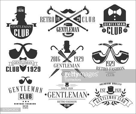 Vintage Gentlemen Club Logos Collection