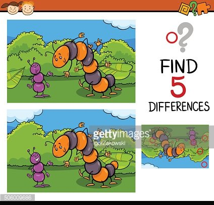 preschool task of differences