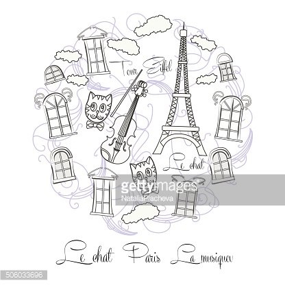 Black and white background with Tour Eiffel