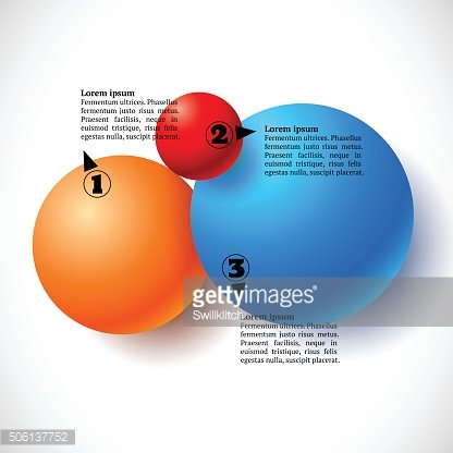 Infographics with group of flying balls