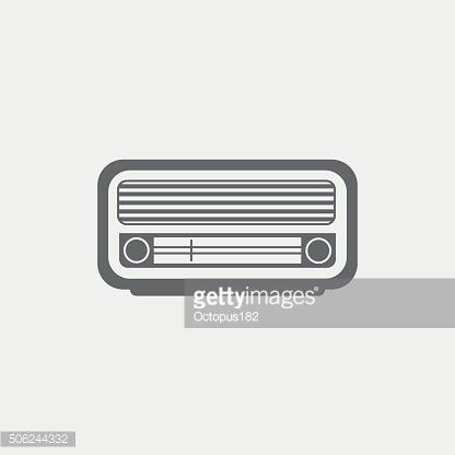 Retro radio monochrome icon