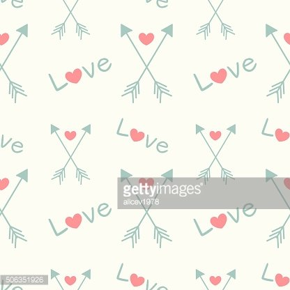lovely seamless pattern background with arrows and hearts