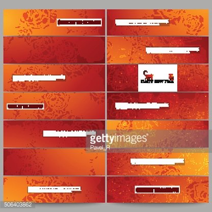 Set of modern banners. Chinese new year background. Floral design