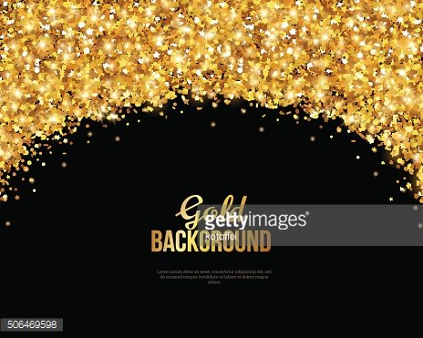 Black and Gold Banner, Greeting Card