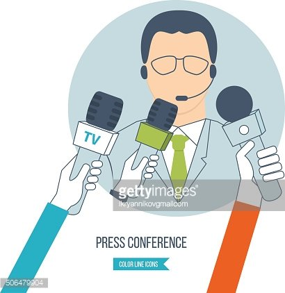 Press conference and live news.