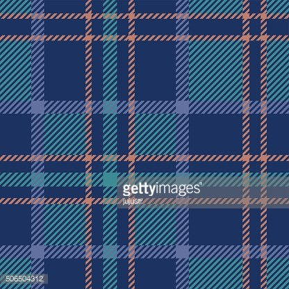 Plaid tartan checkered British seamless pattern. Turquoise, blue, beige