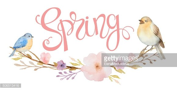 Hand drawn lettering Spring.
