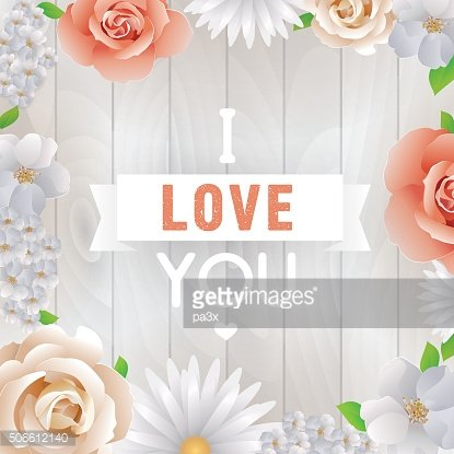 I love You inscription. Vector greeting card, invitation or poster