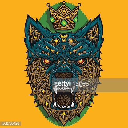 Vector king wolf