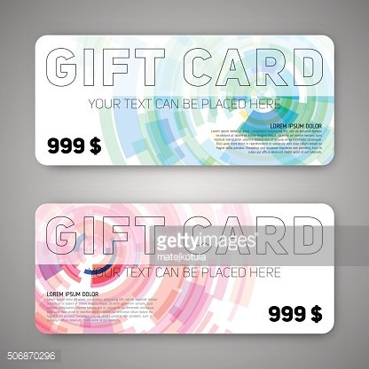 Set of gift discount cards