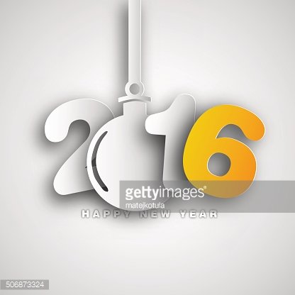 2016, Creative happy new year design