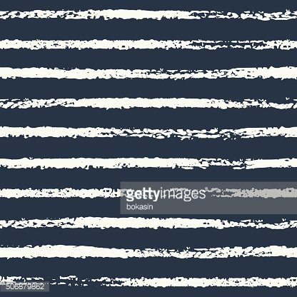 Vector grunge striped seamless pattern in black and white