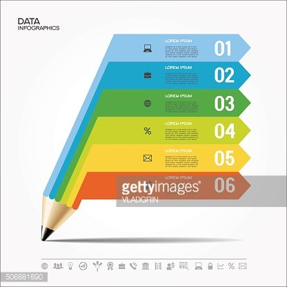 Pencil for infographics