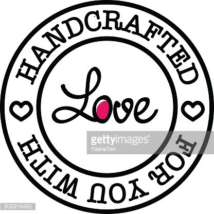 Hand-made for you with love vector retro badge