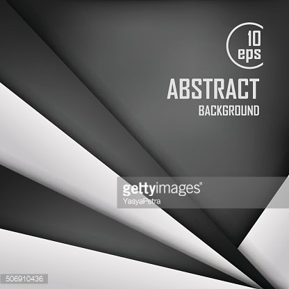 Abstract background of white and black origami paper. Vector illustration