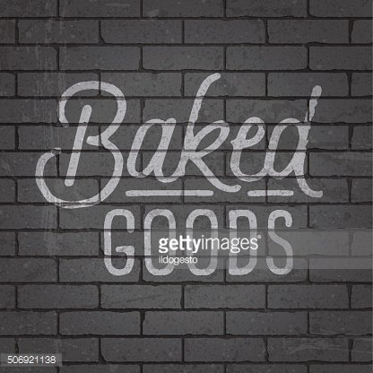 Hand drawn lettering slogan on brick wall background