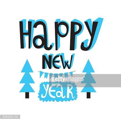 Happy new year 2016 or christmas typography.