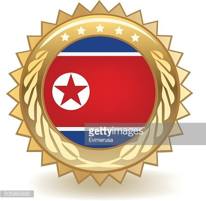 North Korea Badge
