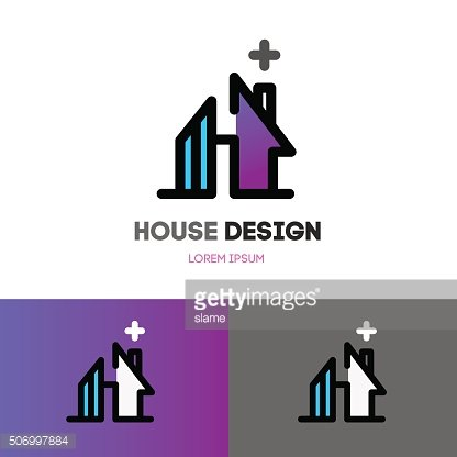 Abstract house design template.