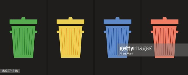 Simple recycle icons