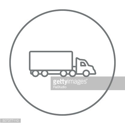 Delivery truck line icon