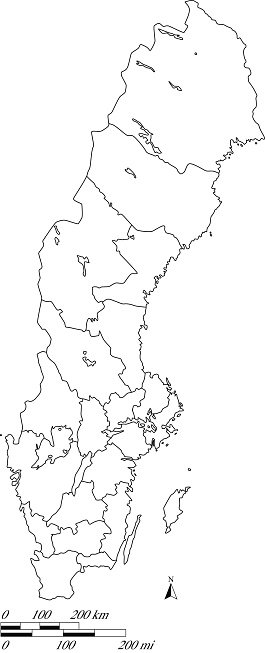Sweden Map Outline Vector With Scales IN A Blank Design Premium - Sweden map clipart