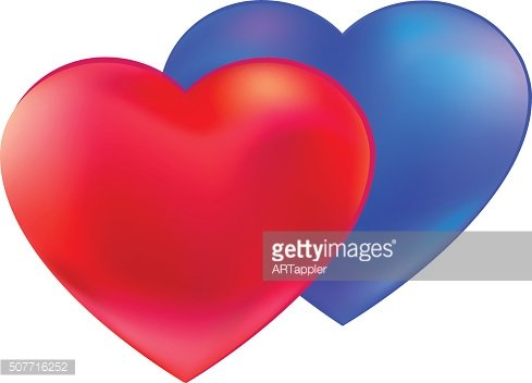 Different Hearts together vector