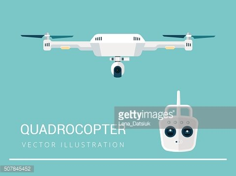 Remote aerial drone with a camera taking photography or video