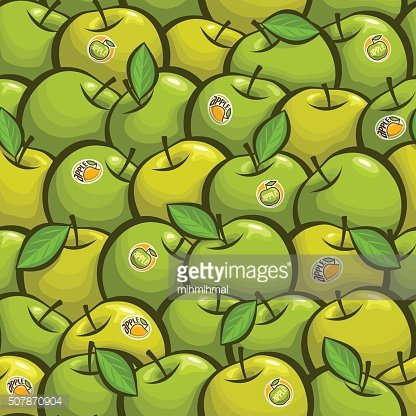 Vector illustration on the theme of green apple background