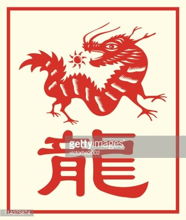 Chinese Zodiac Dragon With A Character premium clipart - ClipartLogo com