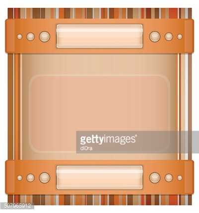 Orange - brown background with layout.
