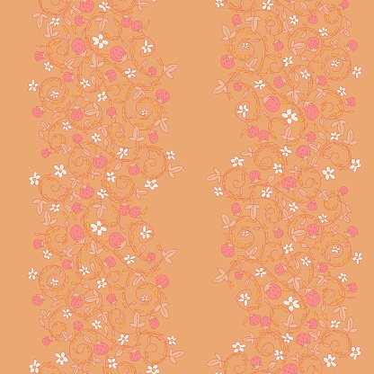 seamless vector pattern with strawberry, berry
