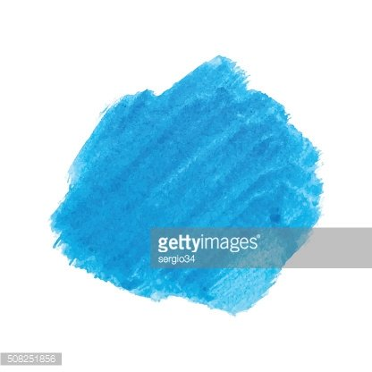 Blue watercolor stain vector.