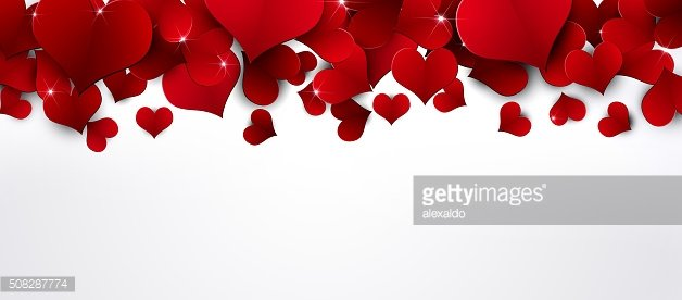 Red Hearts Banner