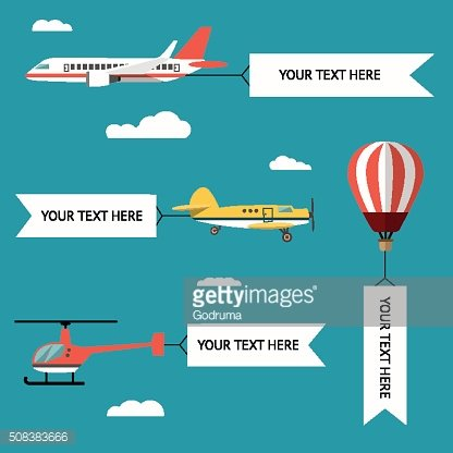 Aeroplane, planes, helicopters, biplane and hot air balloon.