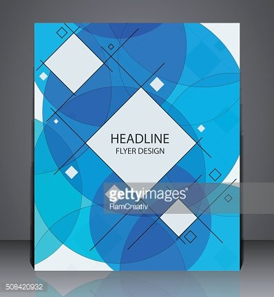 Abstract business brochure flyer, geometric design with squares