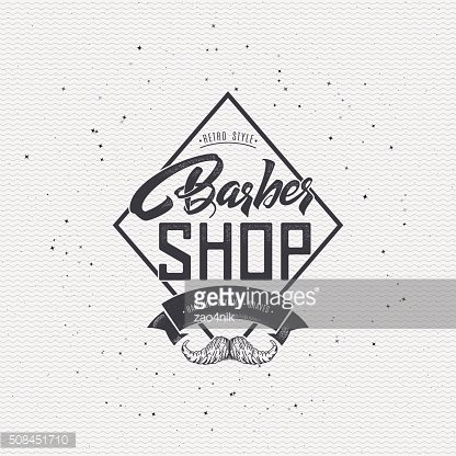 Barber label sticker badge hand-lettering, can be used to