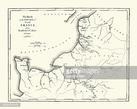 Map of Edward III route through France