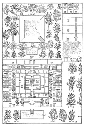 Antique illustration of map of an ancient egyptian house premium antique illustration of map of an ancient egyptian house ccuart Choice Image