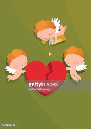 Cupids and heart