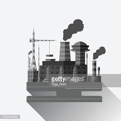 Flat industrial factory