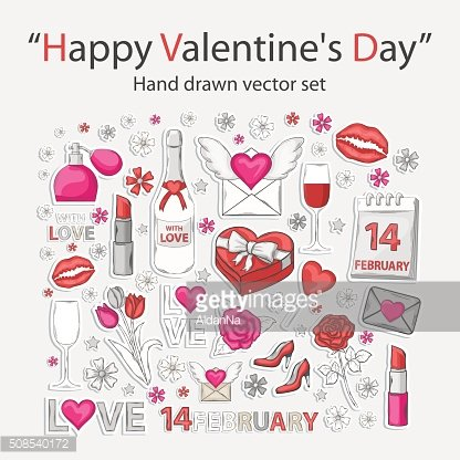 Happy Valentine's day set