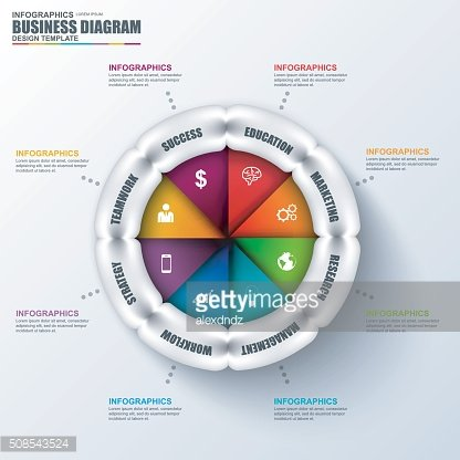 Abstract 3D business marketing diagram Infographic